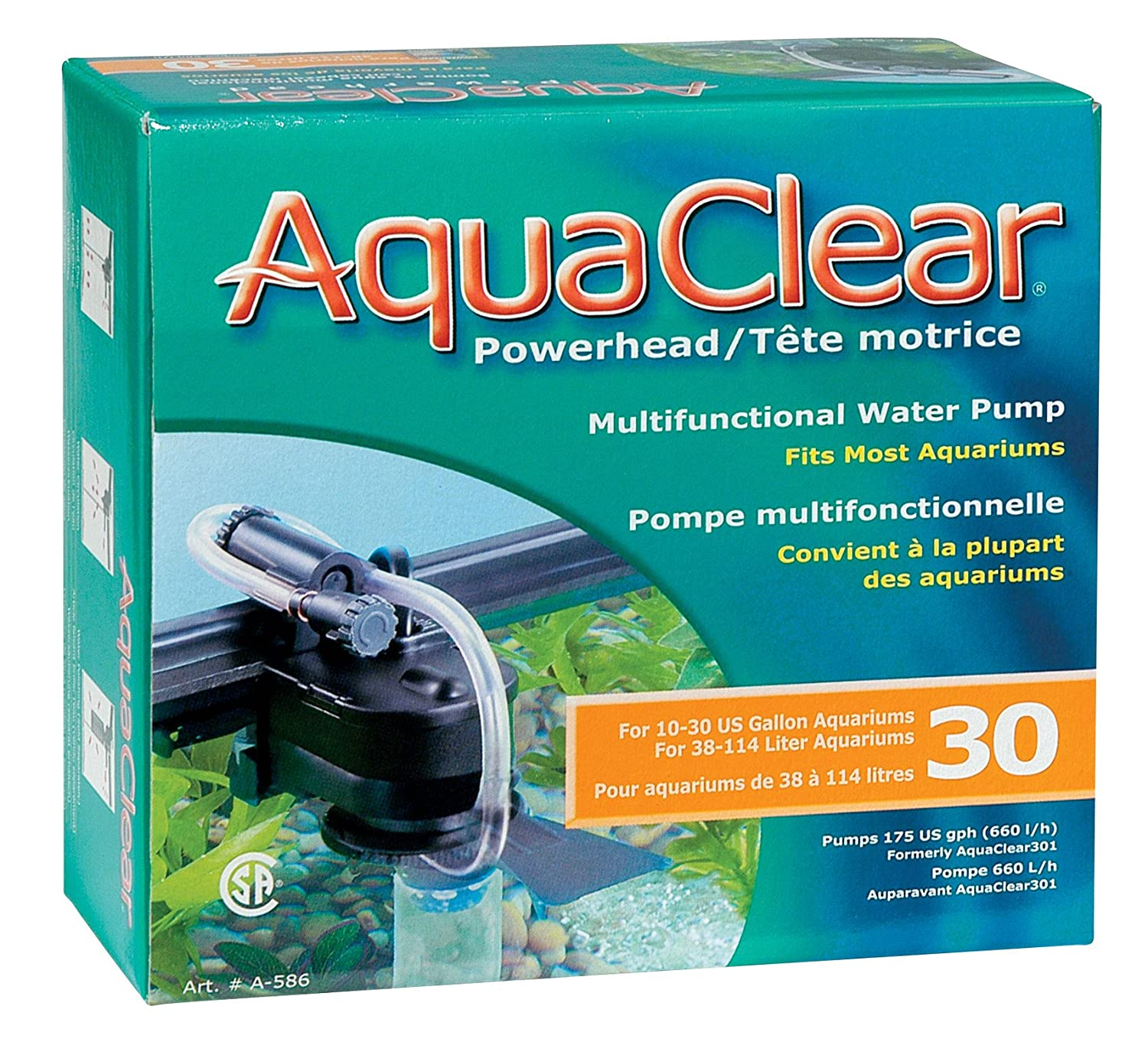 Amazon.com : AquaClear Powerhead 30 - 110 V, 175 Gallons per Hour ...
