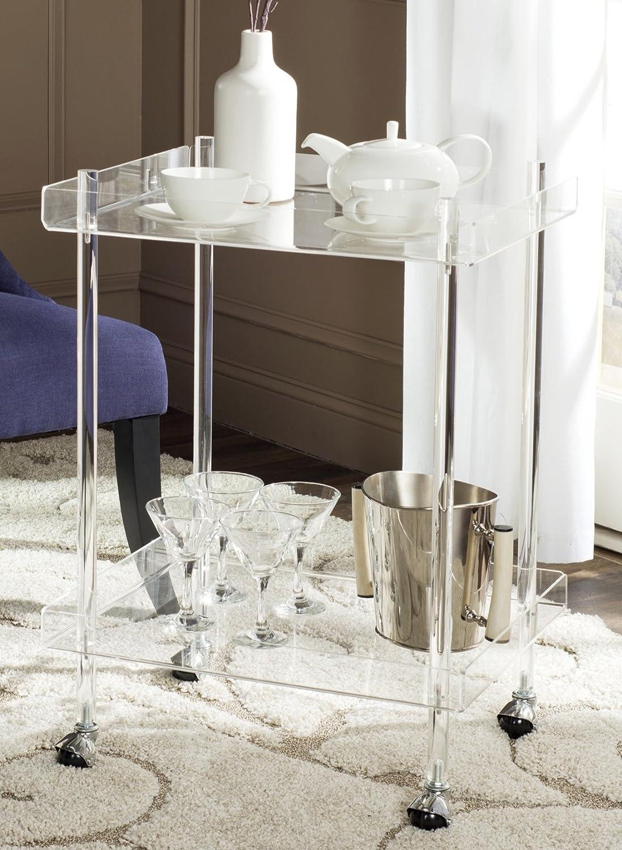 Amazon.com: Safavieh Home Collection Healy White Kitchen Cart ...