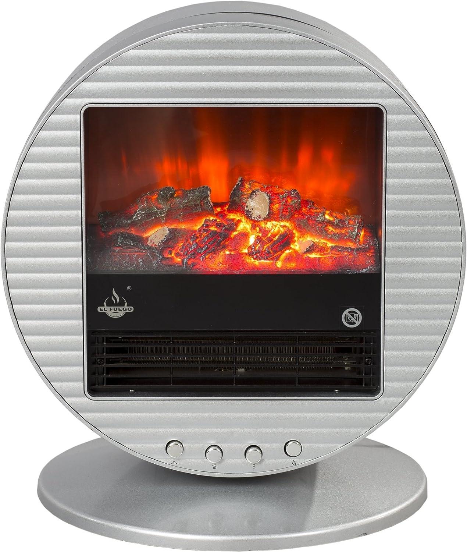 El Fuego Elektrokamin 'Mannheim' silber, AY3293