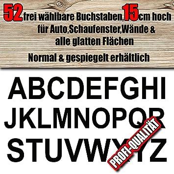 52 Wetterfeste Buchstaben Aufkleber 15 Cm Höhe Für Innenaussen Frei Zusammenstellbar Nach Ihren Wünschen Große Farb Schriftartauswahl Für Auto
