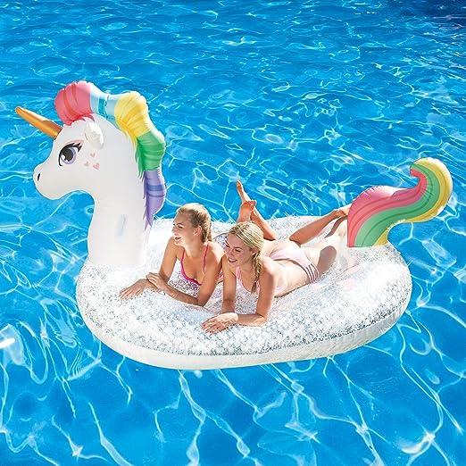 Amazon.com: Flotador inflable para piscina con diseño de ...
