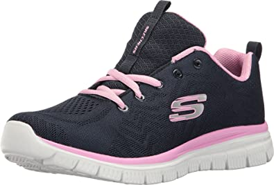 Día terrorista explosión  Buy Skechers Women's Graceful Get Connected Navy/Pink Walking Shoes (12615-NVPK)  at Amazon.in
