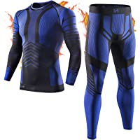 MEETYOO Conjuntos térmicos Hombre, Ropa Interior Térmica Leggings Compresión Camiseta para Esquí Running Ciclismo