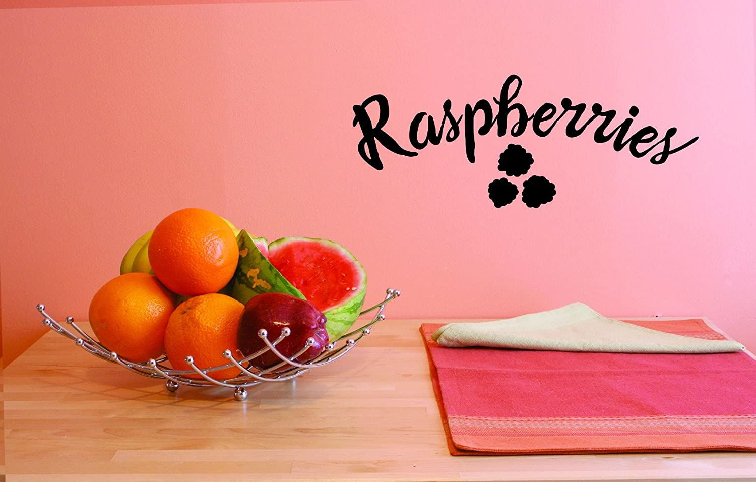 8 Inches x 20 Inches Color Black 8 x 20, Design with Vinyl JER 1830 1 Hot New Decals Raspberries Wall Art Size