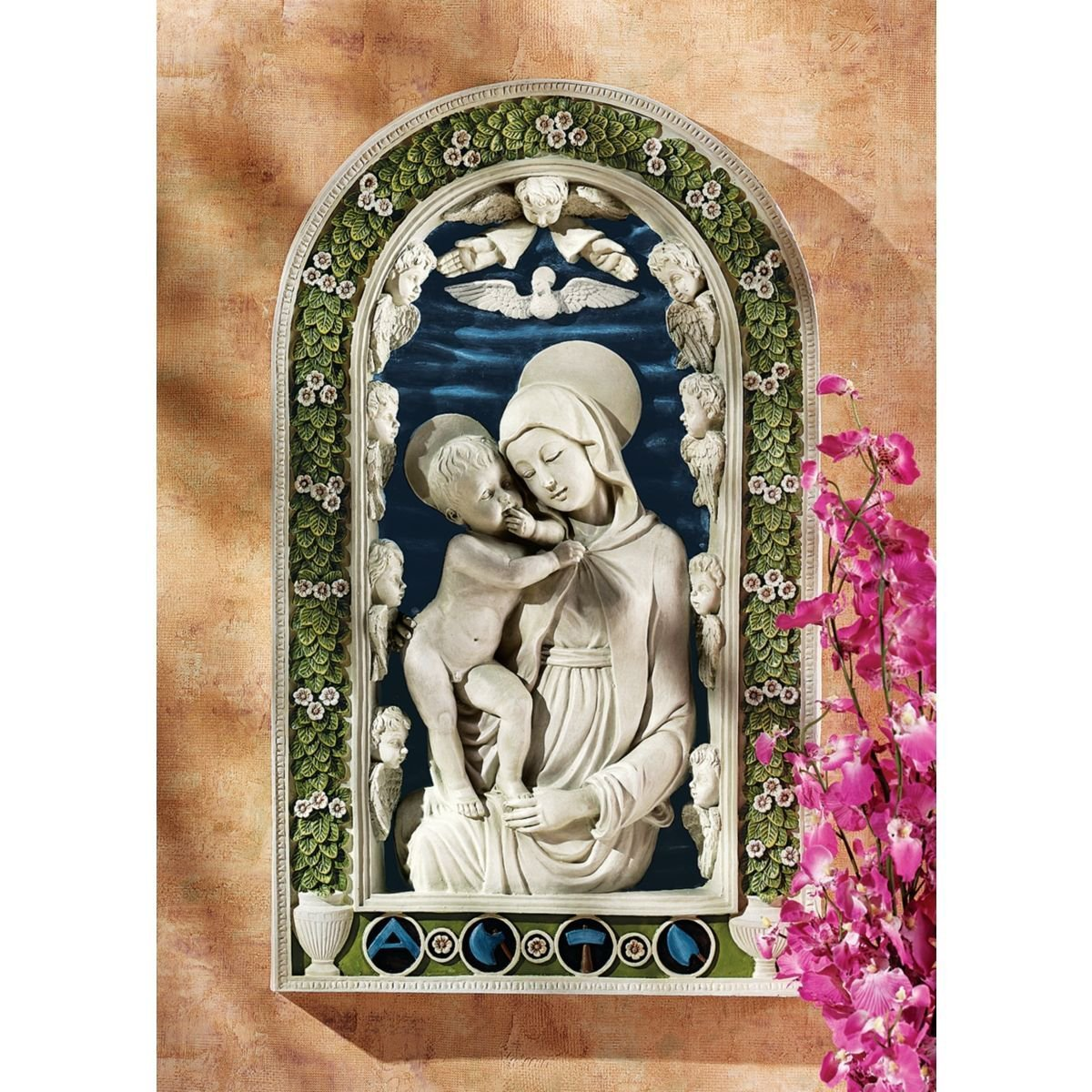 Design Toscano DB383045 Madonna and Child (1430) Wall Sculpture