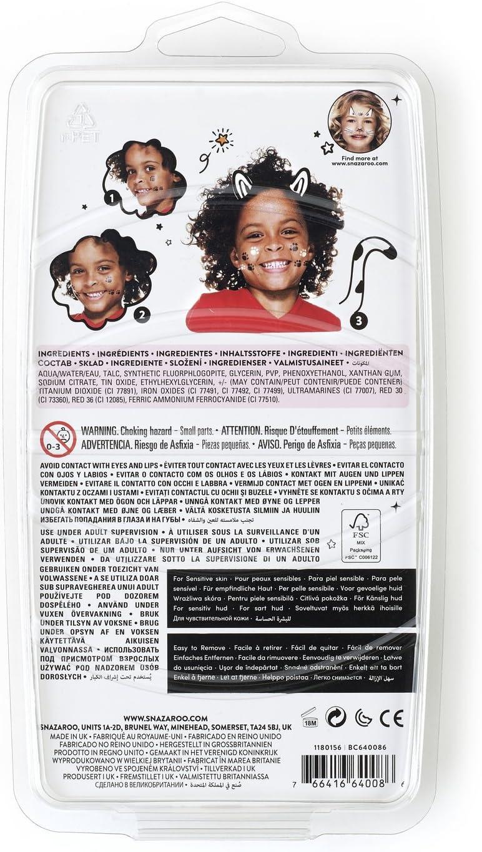 Snazaroo Set de 3 Rotuladores de Maquillaje, color blanco y negro (x2) , color/modelo surtido: Amazon.es: Juguetes y juegos