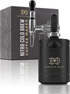 My Morning Brew Nitro Cold Brew Coffee Maker | Premium Portable Home Brewing Kit (Black)