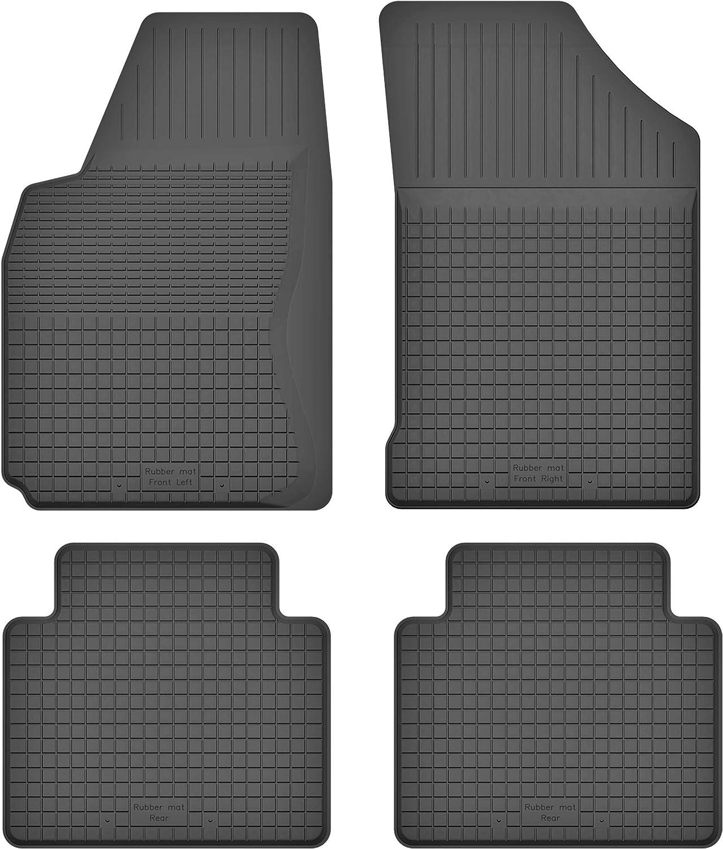 Ko Rubbermat Gummimatten Fußmatten 1 5 Cm Rand Geeignet Zur Nissan Note I Bj 2006 2012 Ideal Angepasst 4 Teile Ein Set Auto