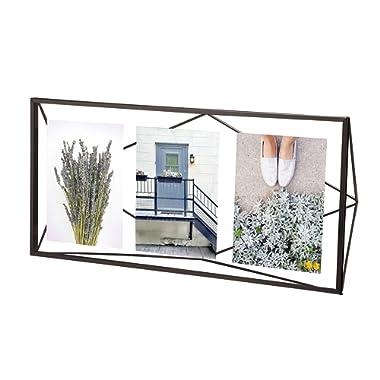 Umbra Prisma Multi Picture Frame – Photo Display for Desk or Wall, Black