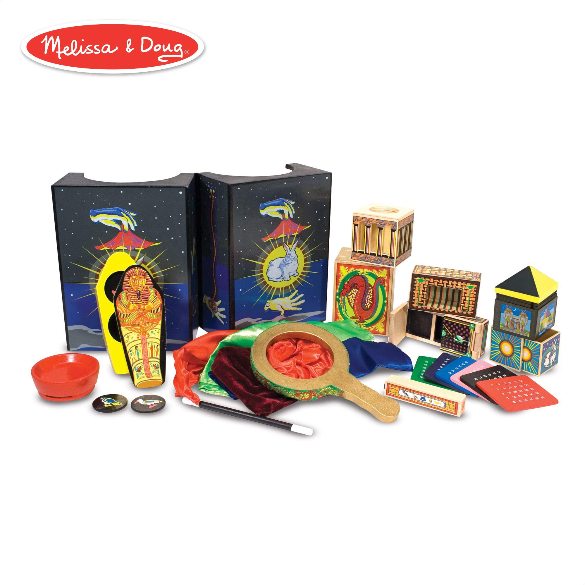 Melissa & Doug Deluxe Magic Set, Kids Magic Set, 10 Classic Tricks, Step-By-Step Instructions, 3.8'' H x 14.1'' W x 9.6'' L by Melissa & Doug