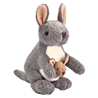 Wild Republic Kangaroo with Joey Plush, Stuffed Animal, Plush Toy, Gifts for Kids, Cuddlekins 8 Inches: Toys & Games