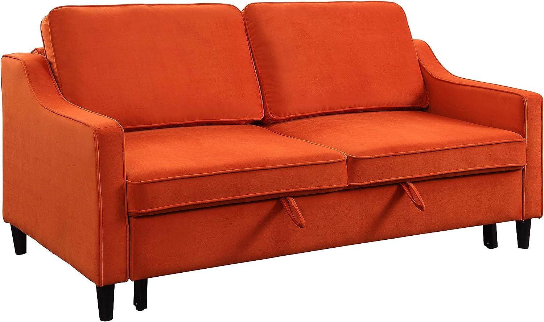 Lexicon Convertible Studio Sofa Bed, Orange