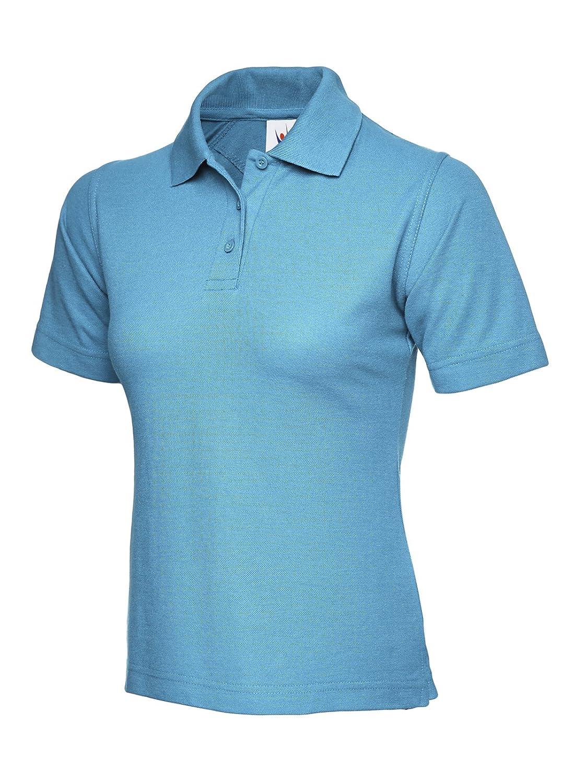 Ladies Polo Shirt Short Sleeve Leisure Casual Tee Top Sports Work Workwear