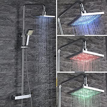 HOMELODY LED 38°C Termostatica Columna de ducha Hidroeléctrica ...