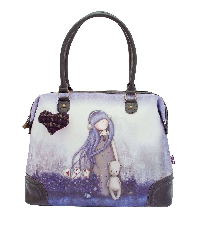 Santoro Gorjuss, borsa Dear Alice con cerniera e tasca interna, larghezza 48cm x altezza 34 cmx profondità 14 cm GorjussHandbag