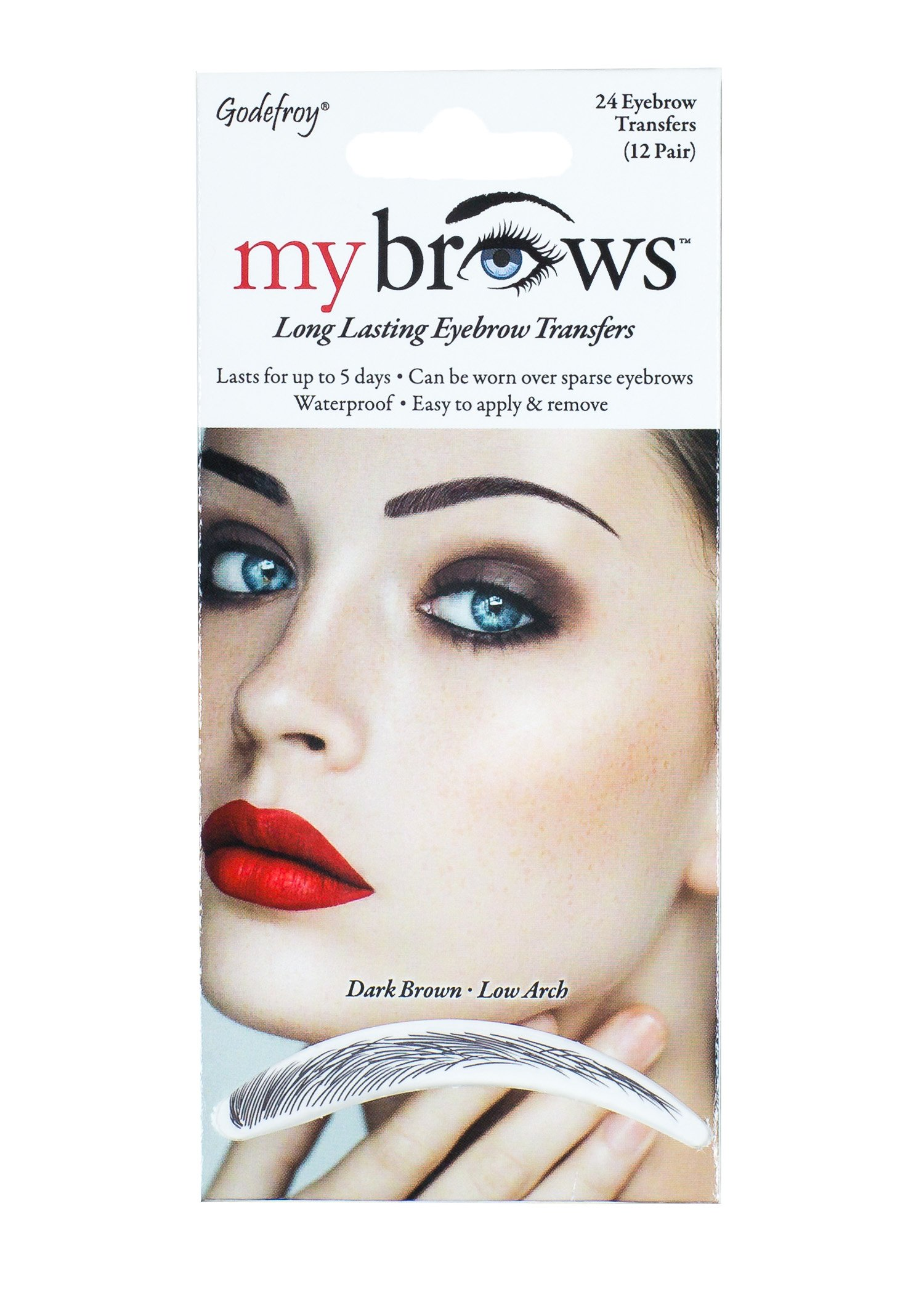 Amazon Godefroy Mybrows Medium Arch Eyebrow Tattoo Dark Brown