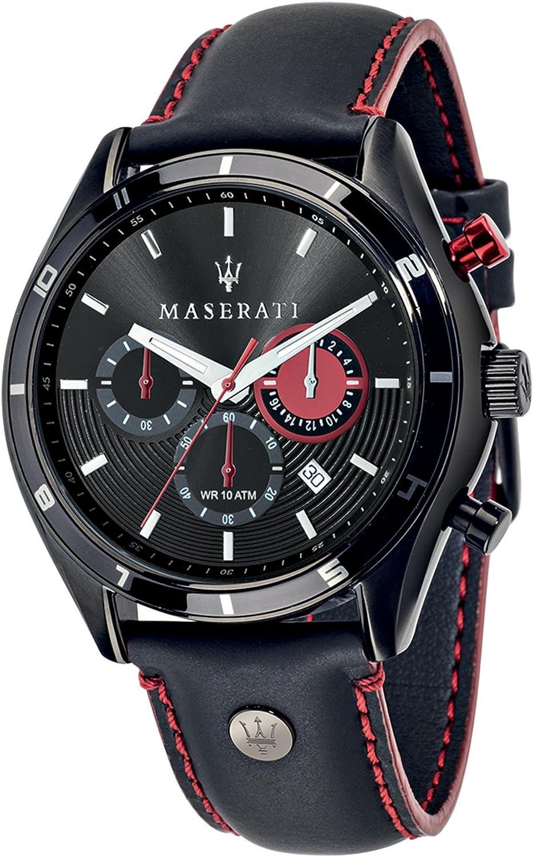 Maserati Reloj Cronógrafo de Cuarzo para Hombre con Correa de Cuero – R8871624002