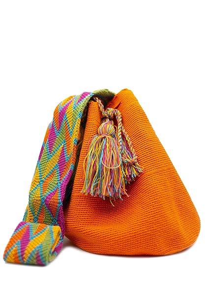 Gota de Agua accesorize Bolso Wayuu hecho a mano por mujeres indígenas de la tribu. No hay dos iguales: Amazon.es: Zapatos y complementos
