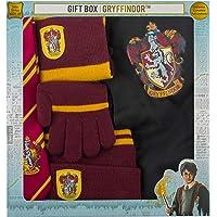 Cinereplicas- Brandecision-Caja Regalo Harry Potter Kids Gryffindor(Capa,Corbata,Gorro,Guantes y Bufanda), Multicolor…