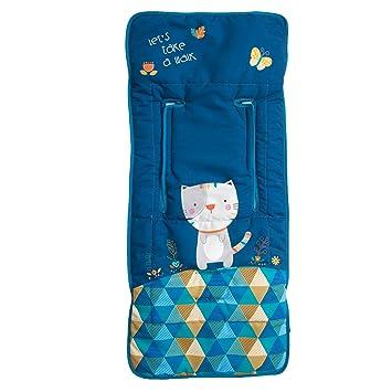 Babyline Kitty - Colchoneta ligera para silla de paseo, color azul