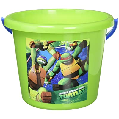 "Amscan Teenage Mutant Ninja Turtles Birthday Jumbo Container Party Favour, Green, 6"" x 8"": Toys & Games"