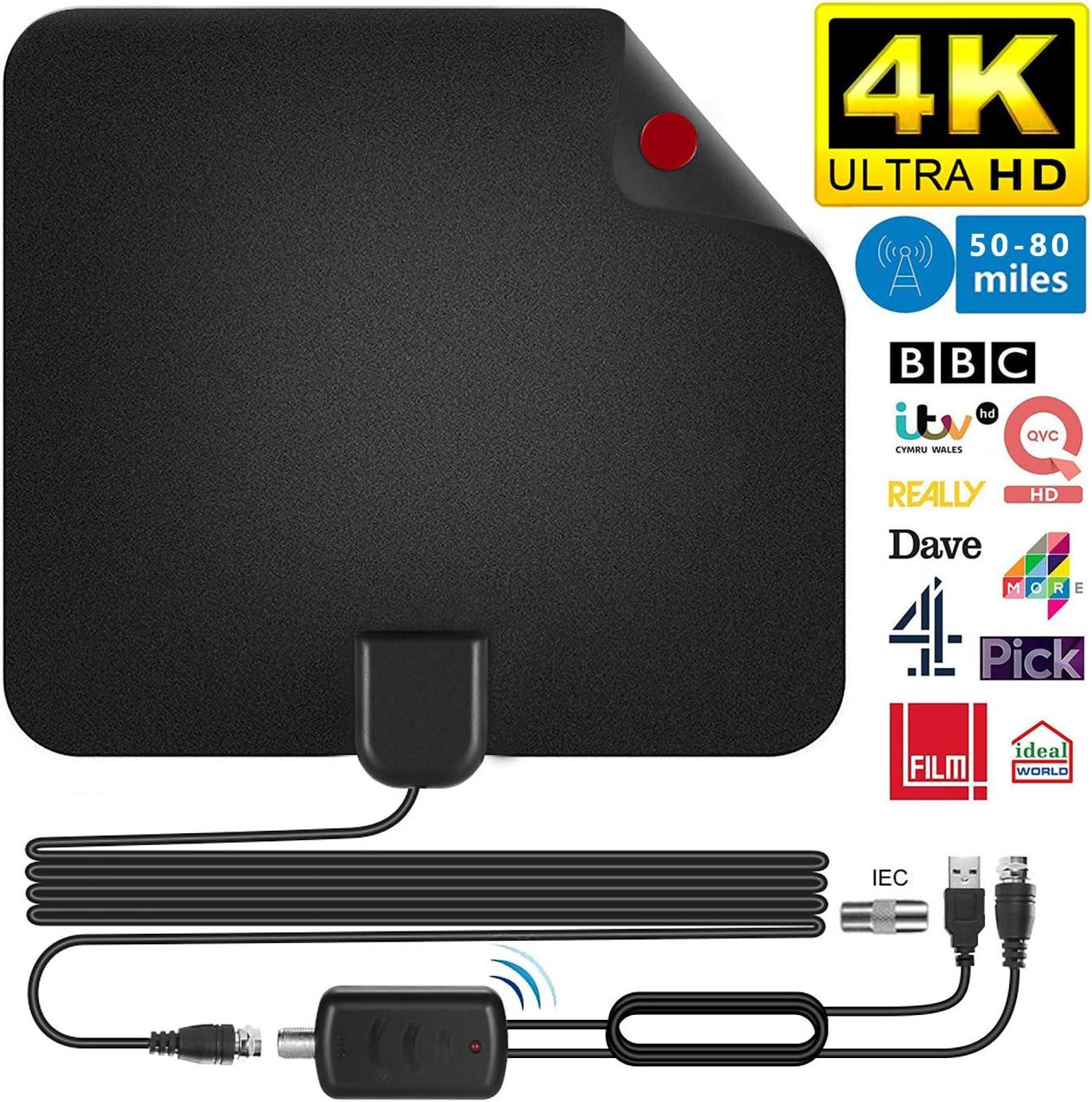 Antena de TV HD, TV ante Antena de TV DVB-T 50 millas de alcance ...