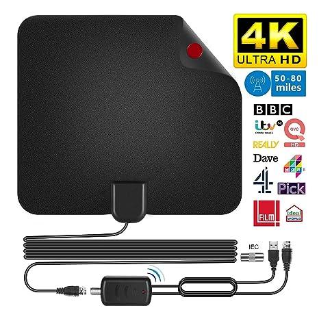 Antena de TV HD,TV ante Antena de TV DVB-T 50 millas de