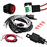 EPAuto LED Light Bar Wiring Harness Kit, 40A Relay / Fuse / ON-OFF Switch