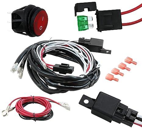 epauto led light bar wiring harness kit, 12v 40a relay fuse on offepauto led light bar wiring harness kit, 12v 40a relay fuse on off switch, high \u0026 low wiring kits amazon canada