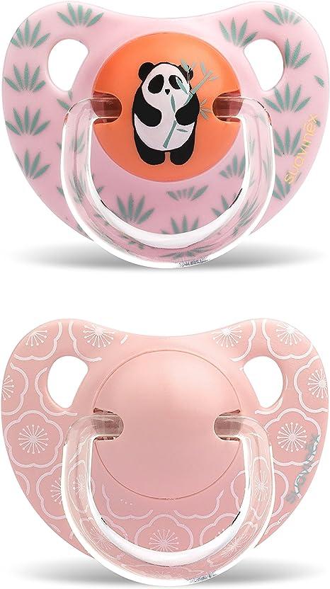 Suavinex - Chupete Physio Panda/flores (2 piezas): Amazon.es: Bebé