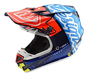 Troy Lee Designs compuesto Factory adultos SE4 motocicleta casco – azul marino