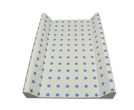 Cambiador de pañales con dos cuñas 50x70 cm o soft 75 x 85cm, estrellas,