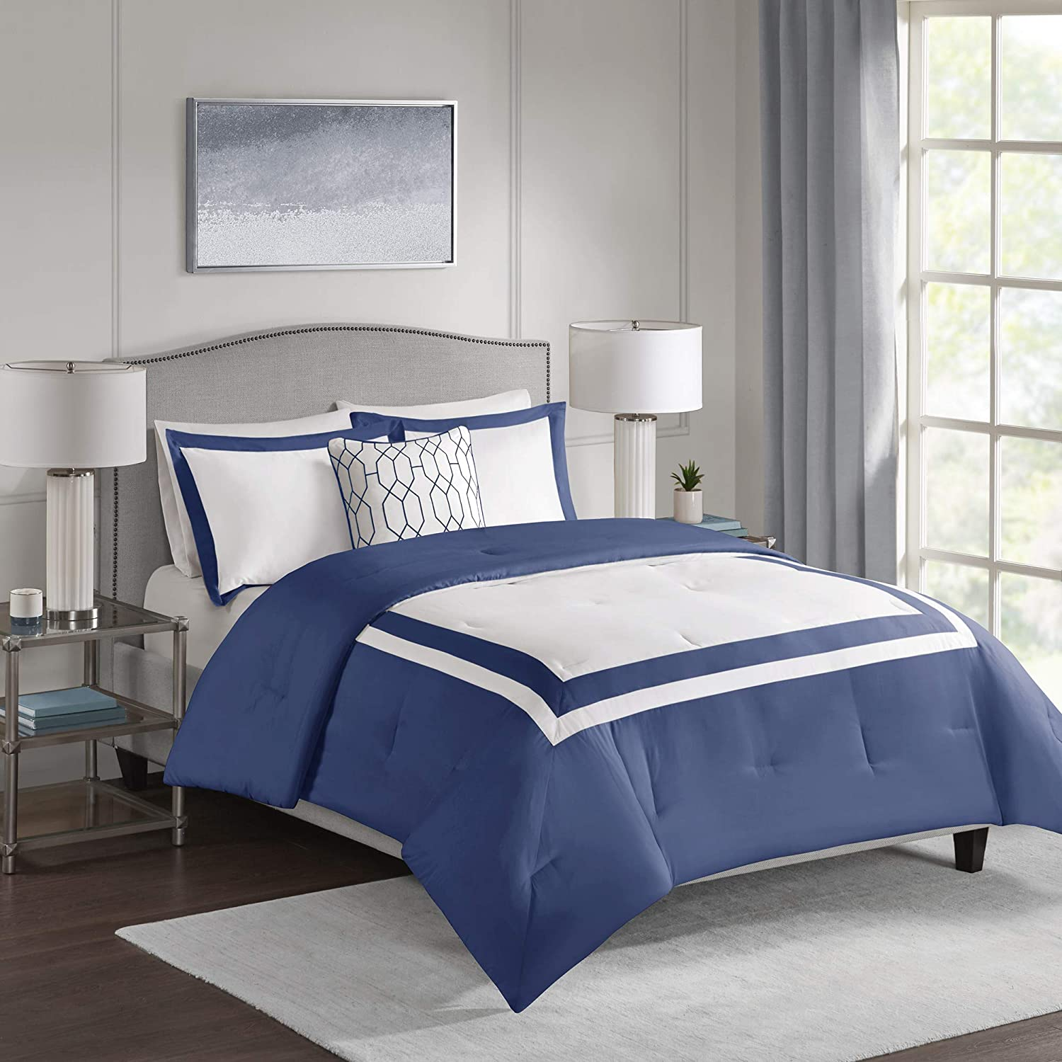 Navy 510 Design Carroll Comforter Set