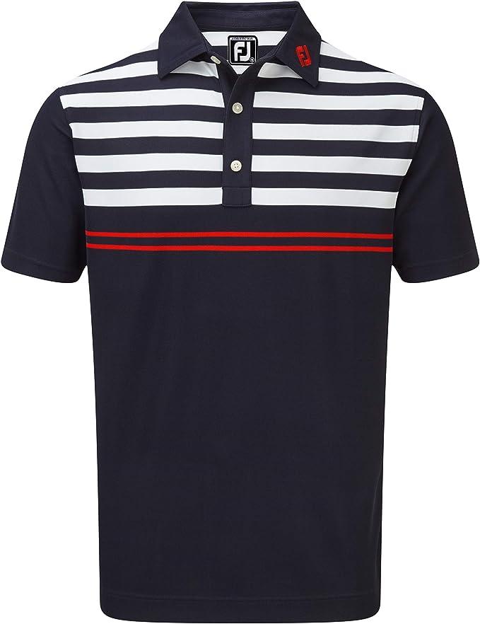 Footjoy Stretch Pique with Graphic Stripes - Polo para Hombre ...