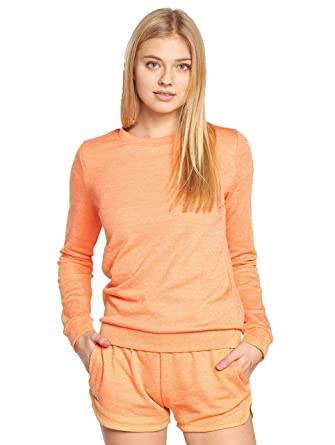 Femme Orangeorange Sweat Shirt Lacoste Sf7975 Sport Jaspe40 5R3Aj4L