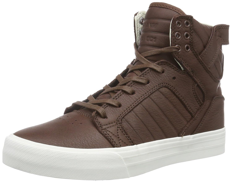 Supra Skytop Hf - Zapatillas Deportivas Altas de Cuero Unisex Adulto 44 EU|Marrón - Braun (Chocolate - Off White Cho)