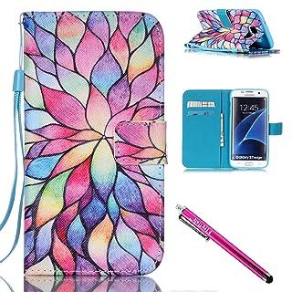 Funda Galaxy S7 Edge, [Soporte] Flip Folio Piel de PU Cartera Funda, [Ranuras para tarjetas] Choque Absorción Shell, Cierre magnético para Samsung Galaxy S7 Edge