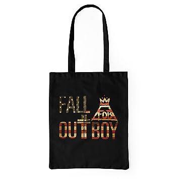 LaMAGLIERIA Bolsa de Tela Fall out Boy USA Texture - Tote ...