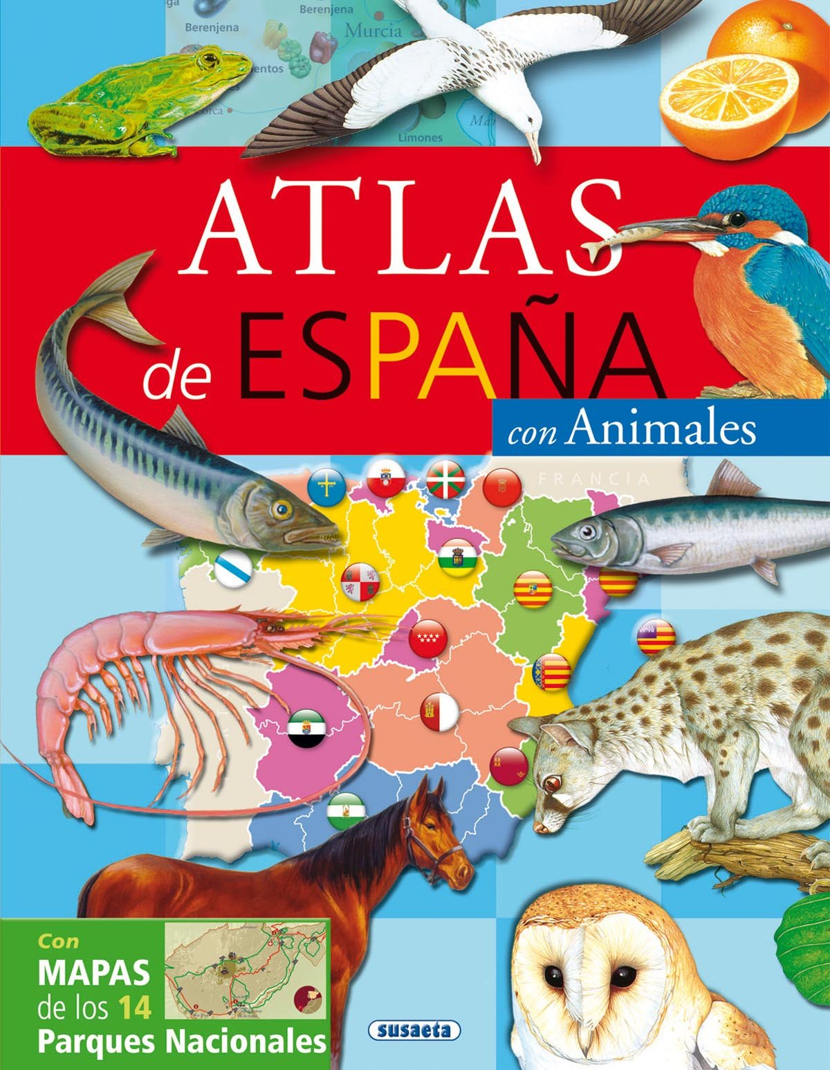Atlas De España Con Animales (Atlas Infantiles): Amazon.es ...