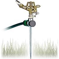 Relaxdays, irrigatie van grote oppervlakken tot 700 m², bereik van 15 m, 360°, gazonsproeier, groene impulssproeier…