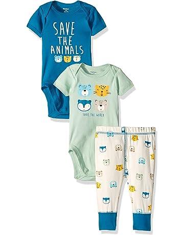 4706c4f83 Gerber Baby Boys' 3-Piece Onesies Bodysuits and Pant Set