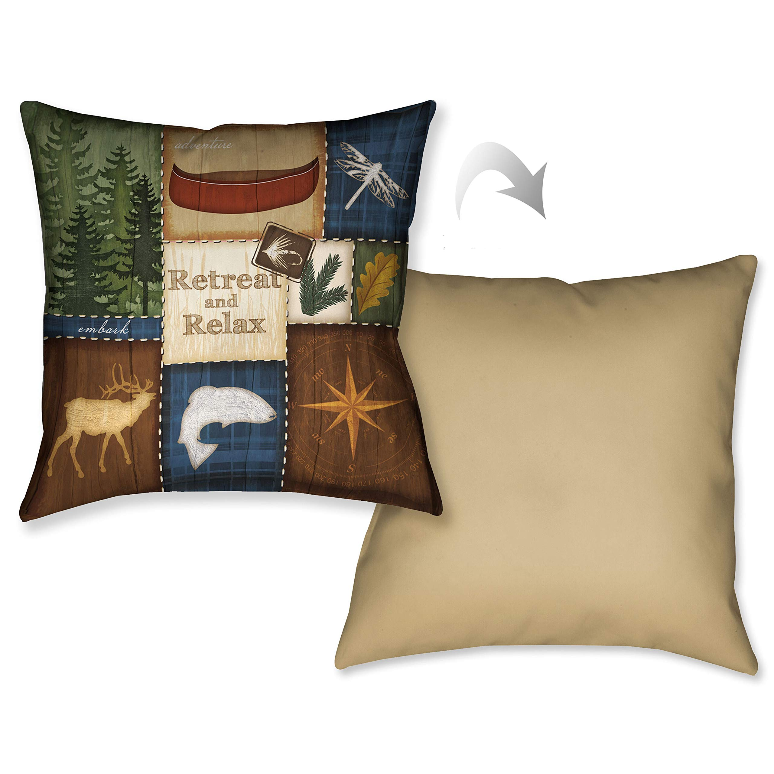 Laural Home Relax Decorative 18-inch Throw Pillow