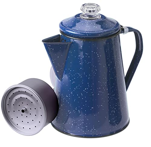 Naczynia do kawy GSI Outdoor Percolator Percolator, 8-Cup, Blue