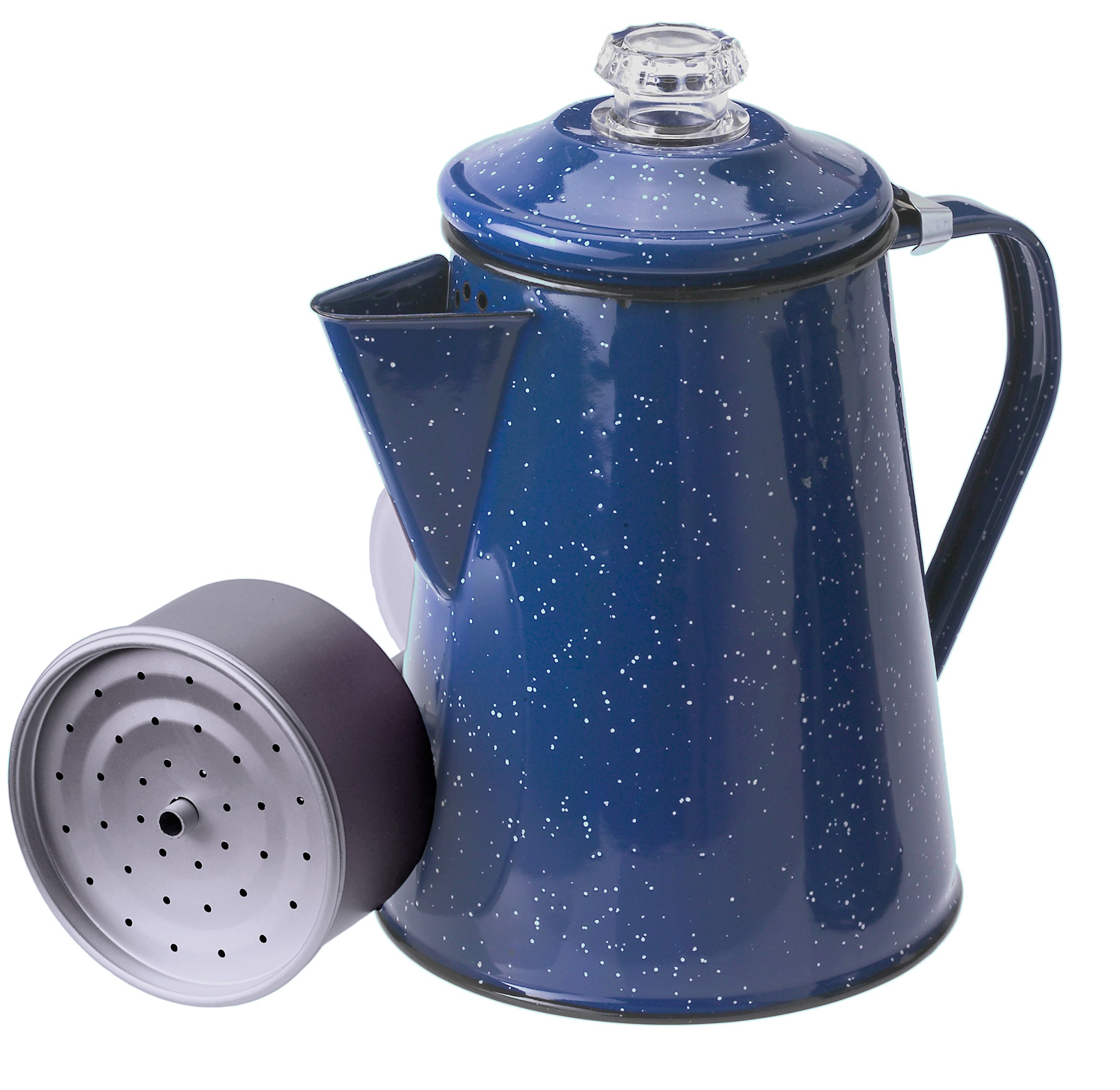 GSI Outdoors Enamelware Percolator Coffee Pot, 8-Cup, Blue by GSI Outdoors