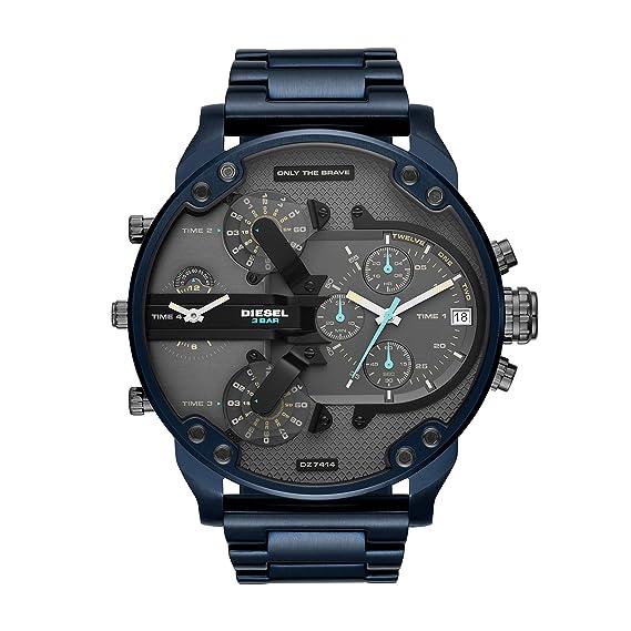 Diesel Reloj Cronógrafo para Hombre de Cuarzo con Correa en Acero Inoxidable DZ7414: Amazon.es: Relojes