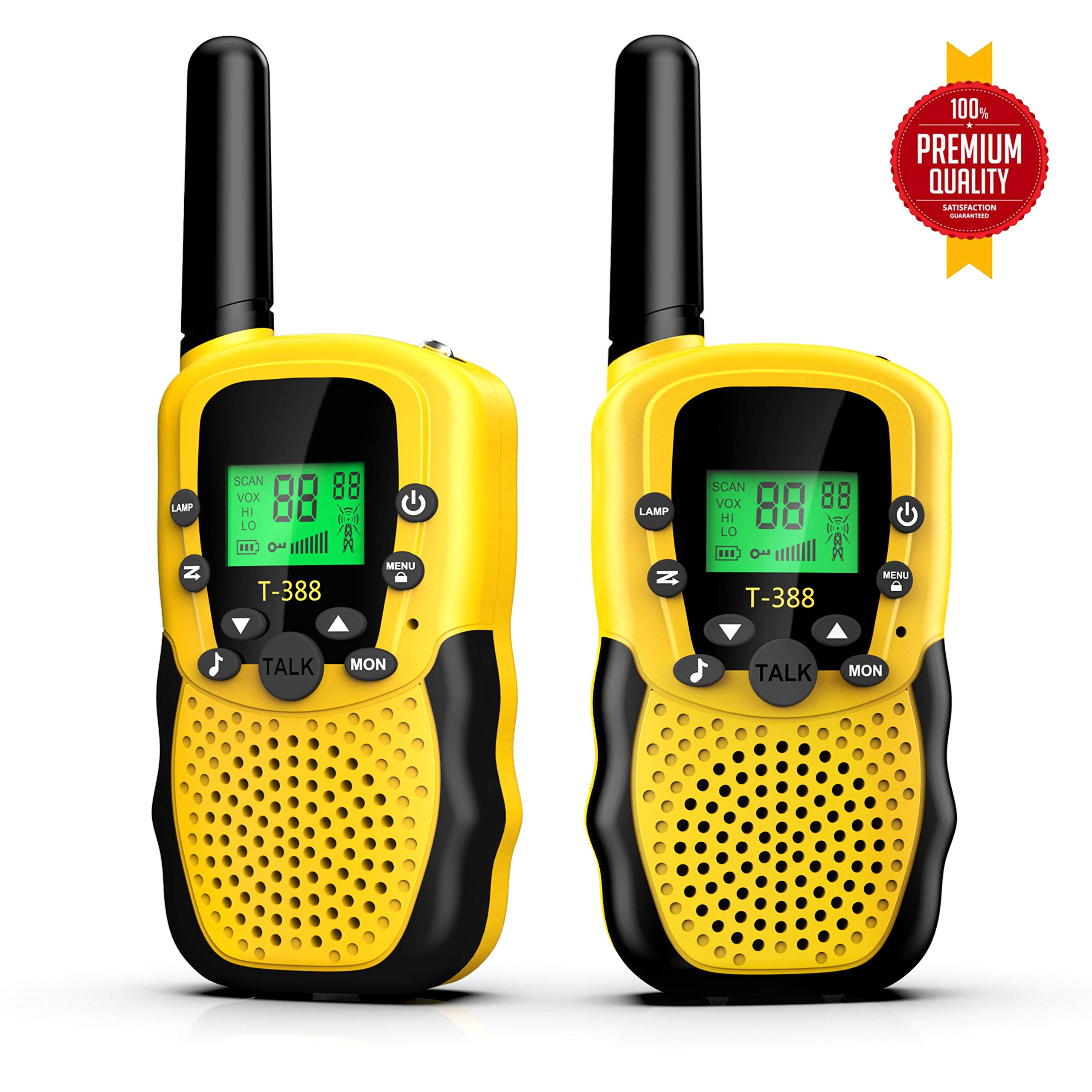 Walkies Talkies for Kids, 22 Channels FRS/GMRS UHF Two Way Radios 4 Miles Handheld Mini Kids Walkie Talkies for Kids Best Gifts Kids Toys Built in Flashlight by JimBest1970 (Image #1)