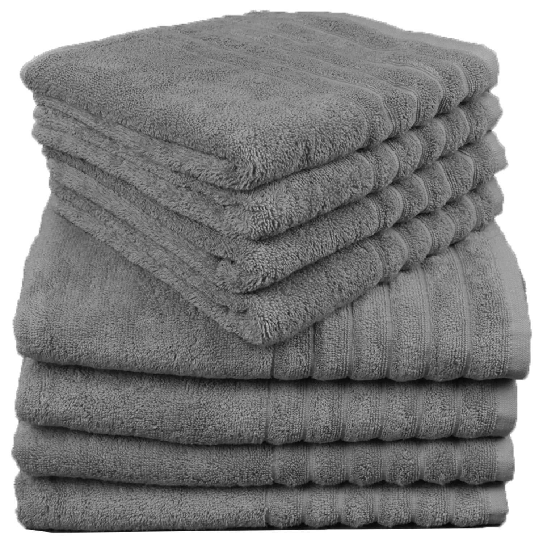 WohnDirect 8er Sparset 4 4 4 Badetücher, 4 Handtücher - Frotteetücher 8teilig - saugstark - 100% Baumwolle - Weiss B07LG83N99 Sets c61714