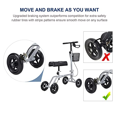Amazon.com: Rodillera de rodilla para patinete con carrito ...