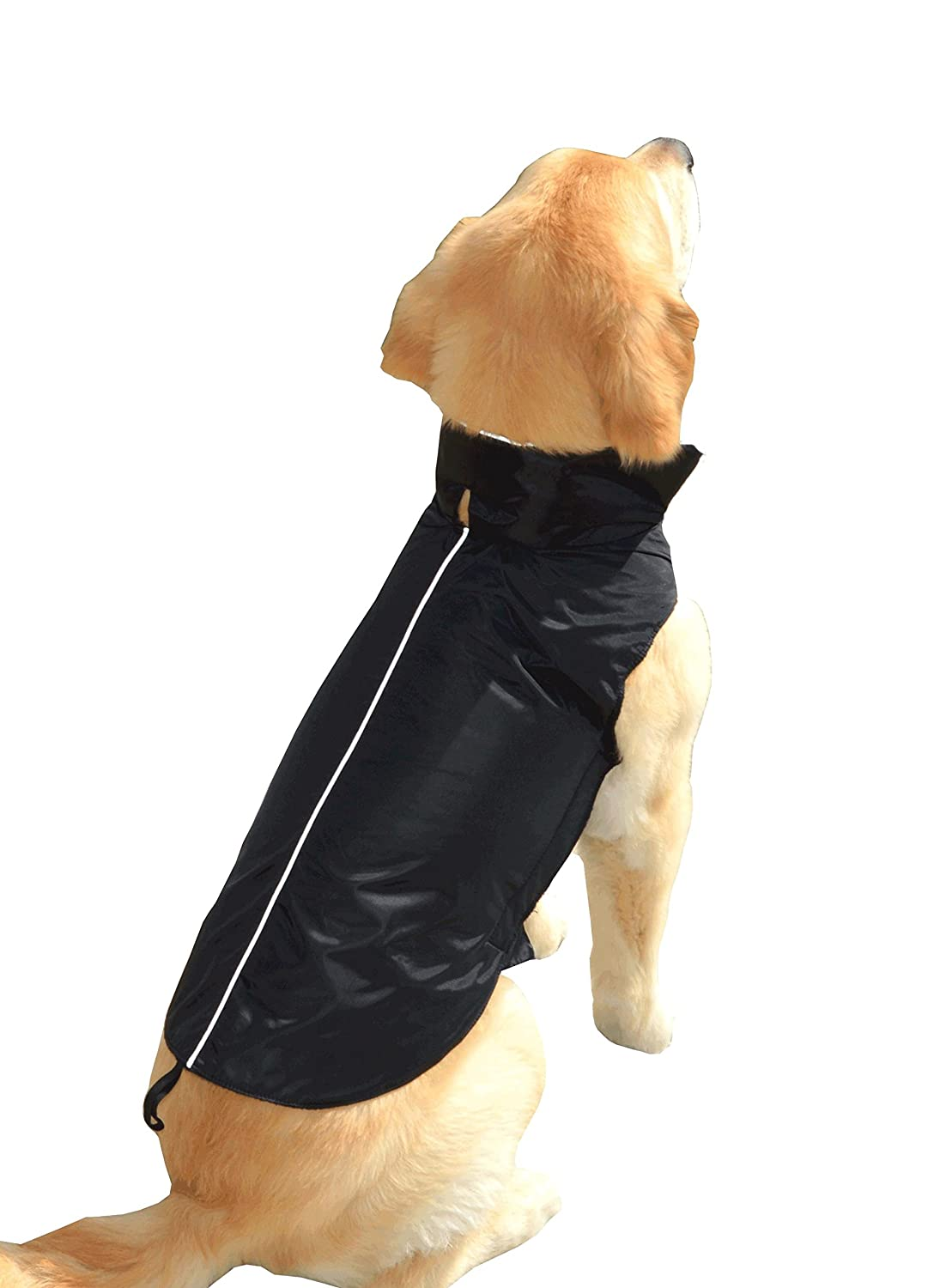 Black X-Large Black X-Large Water Resistant Dog Jacket, Fleece Lined, Warm, Dog Accessory, For Small, Medium & Large Pet Dogs (Black, X-Large), by Downtown Pet Supply
