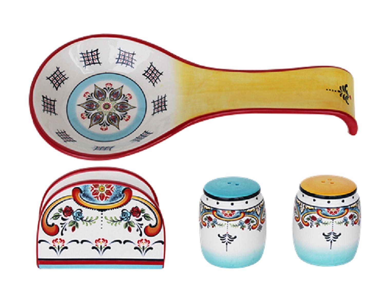Euro Ceramica Zanzibar 16 Piece Dinnerware Set, Multicolor EuroCeramica YS-ZB-1001